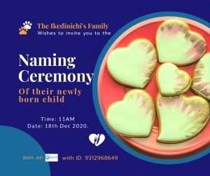 Naming ceremony